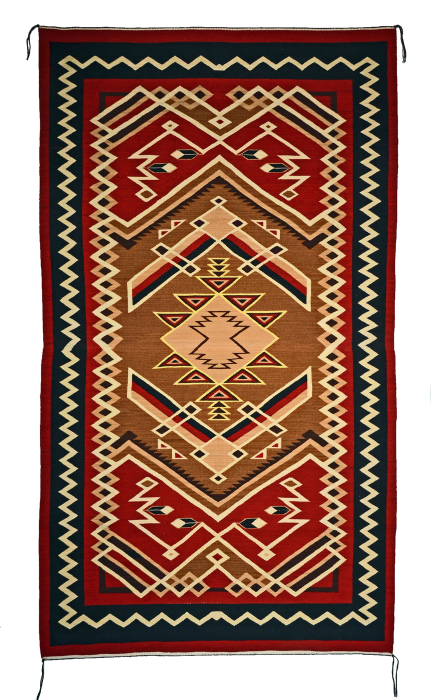 "Crystal Navajo rug for sale : Geraldine Phillips : Churro 1612 : 49"" x 86"" - Getzwiller's Nizhoni Ranch Gallery"