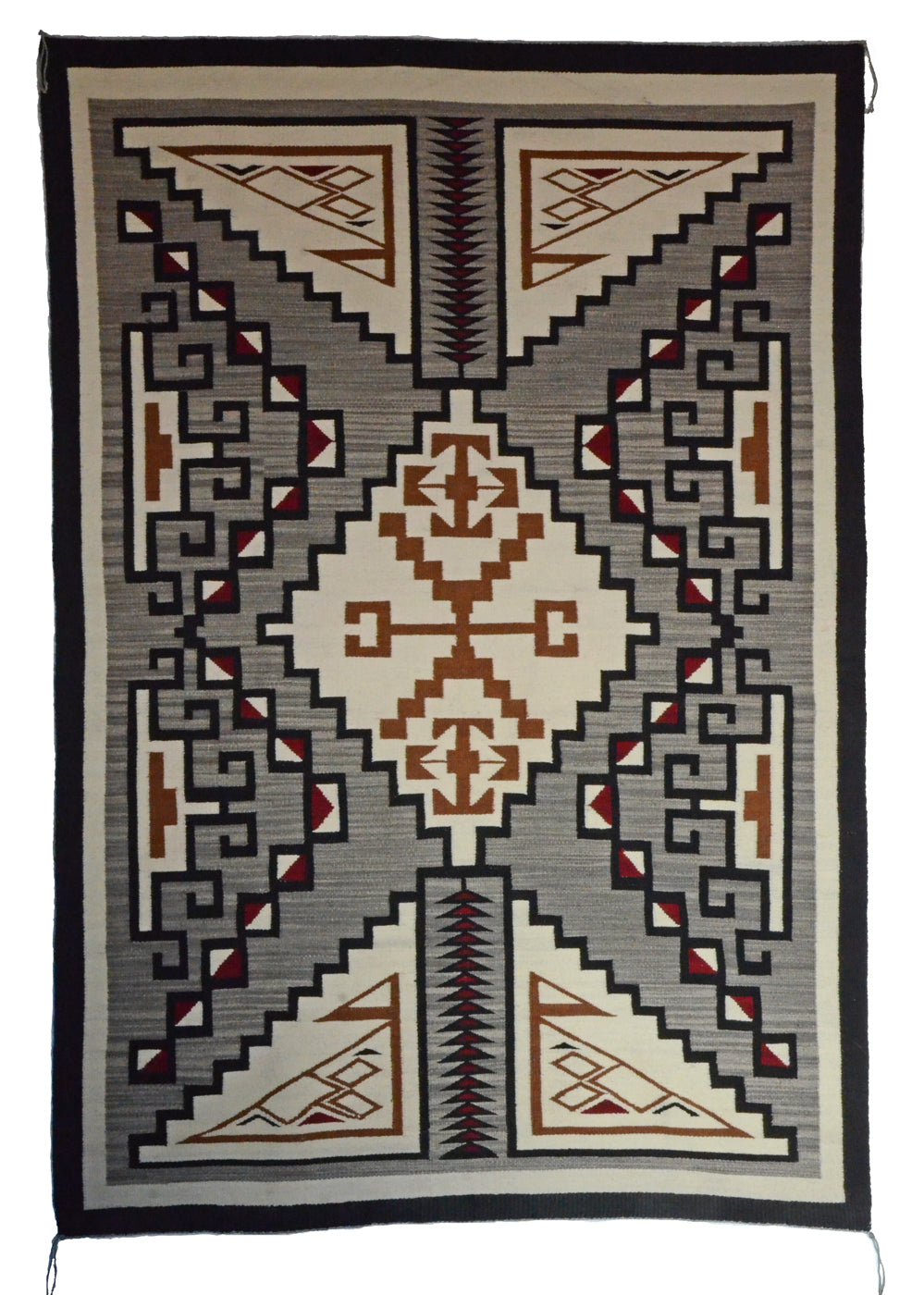 Two Grey Hills Navajo Rug : Geraldine Phillips : Churro 1657