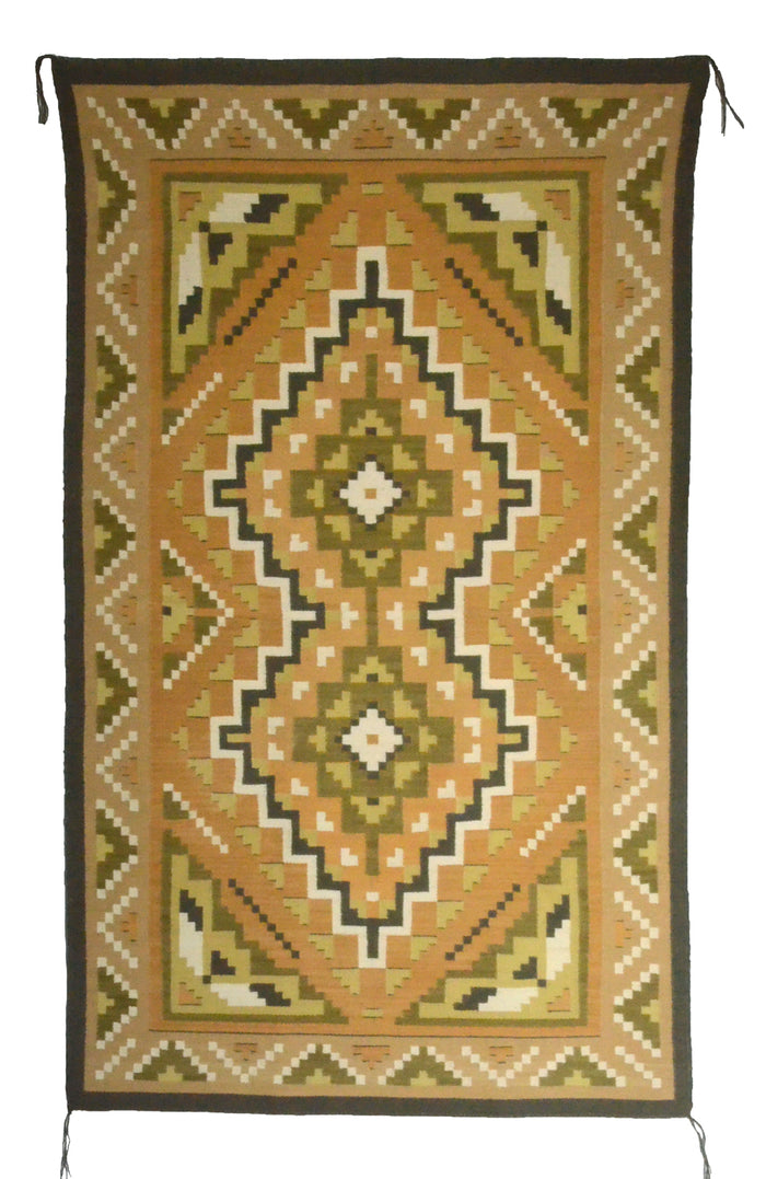 "Three Turkey Ruin Navajo Rug : Helen Bia : Churro 1661 : 36"" x 60"""