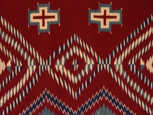 Serape Navajo Weaving : Laverta Marianito : Churro 425