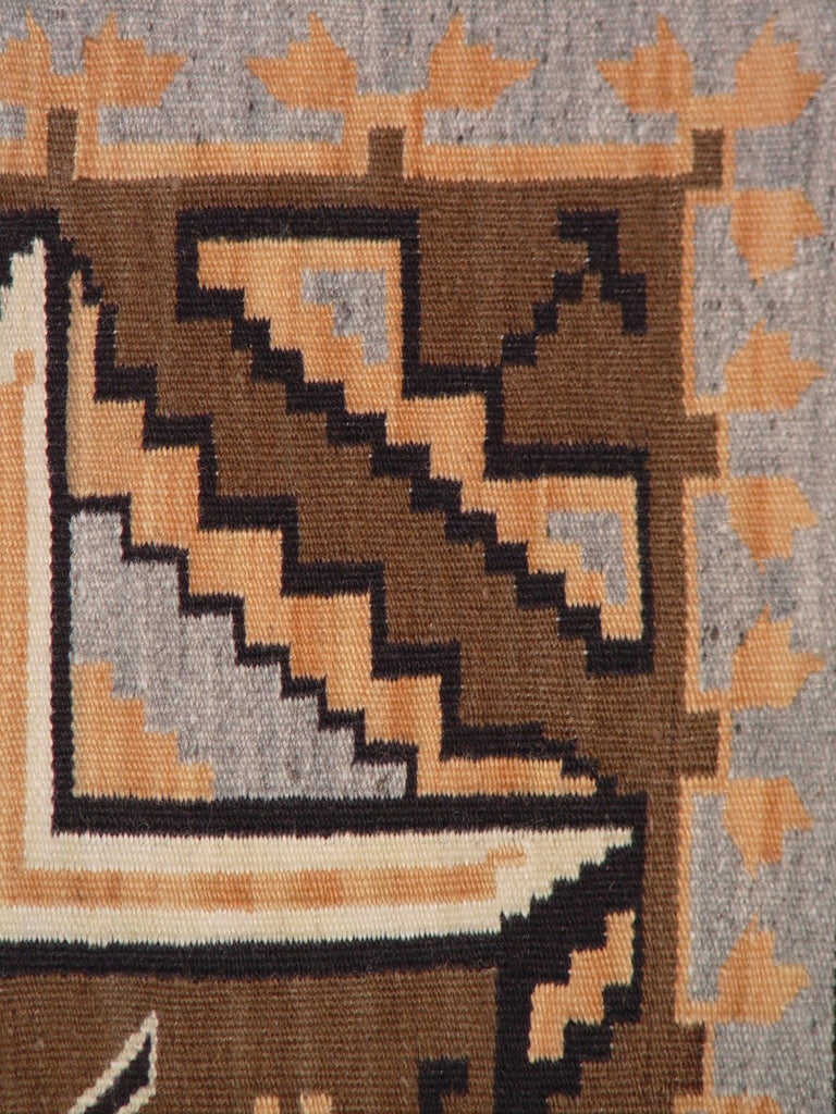 SOLD Crystal / Two Grey Hills Navajo Weaving : Grace Nez : Churro 908 - Crystal - Churro Collection- Getzwiller's Nizhoni Ranch Gallery - NavajoRug.com
