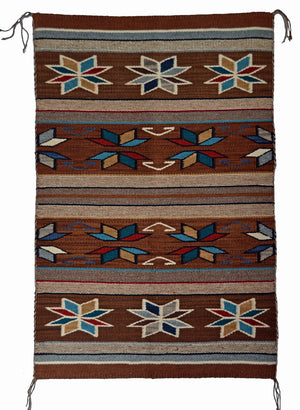 Churro1607- Native American rug, Crystal style with Velero star.