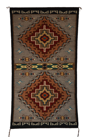 SOLD - Teec Nos Pos Navajo Rug : Harriet Evans : Churro 1646