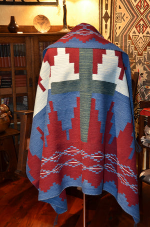 Navajo blanket, wearable art