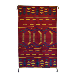 "Navajo Child's Blanket : Kathy Marianito : Churro 1317 : 36"" x 60"" - Getzwiller's Nizhoni Ranch Gallery"