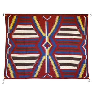 3rd Phase Navajo Chief Blanket : Julia Upshaw : Churro 1393 - Getzwiller's Nizhoni Ranch Gallery