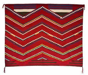 "3rd Phase Navajo Chief Blanket : Lucie Marianito : Churro 1497 : 60"" x 72"" - Getzwiller's Nizhoni Ranch Gallery"