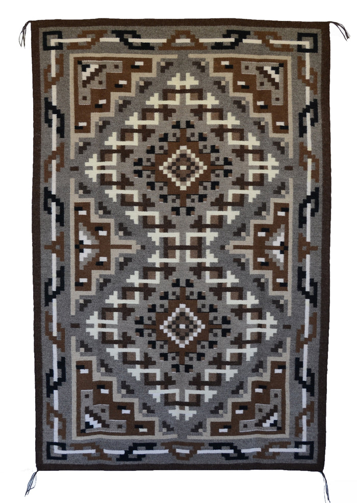 Two Grey Hills Navajo Rug : Helen Bia : Churro 1527