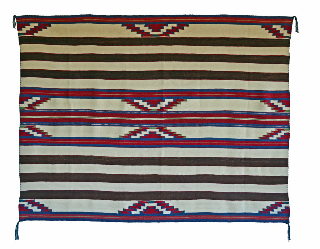 "3rd Phase Navajo Chief Blanket : Kathy Marianito : Churro 1551 : 50"" x 68"" - Getzwiller's Nizhoni Ranch Gallery"