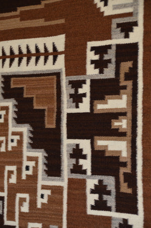 Two Grey Hills Navajo Rug detail photo