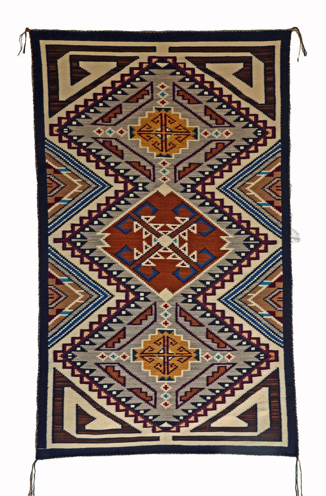 Teec Nos Pos Navajo Rug by Frances Begay from the Churro Collection #1559