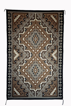 Two Grey Hills Navajo Rug : Helen and Gloria Bia : Churro 1560
