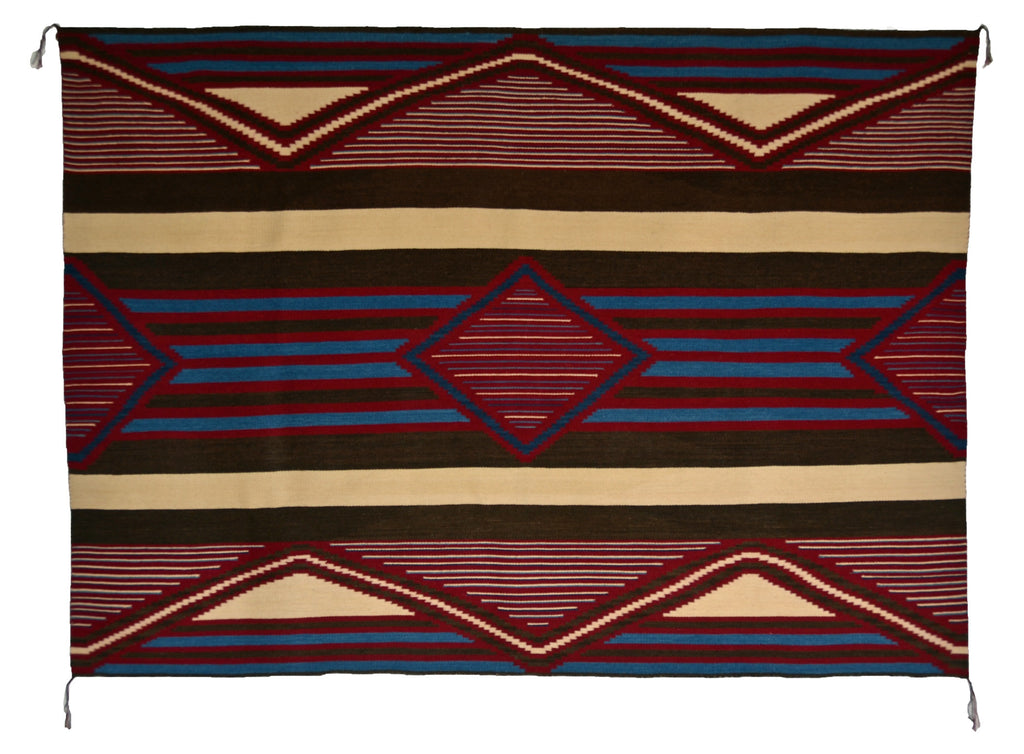 HOLD - 3rd Phase Navajo Chief Blanket : Julia Upshaw : Churro 324-AC 15 - Getzwiller's Nizhoni Ranch Gallery