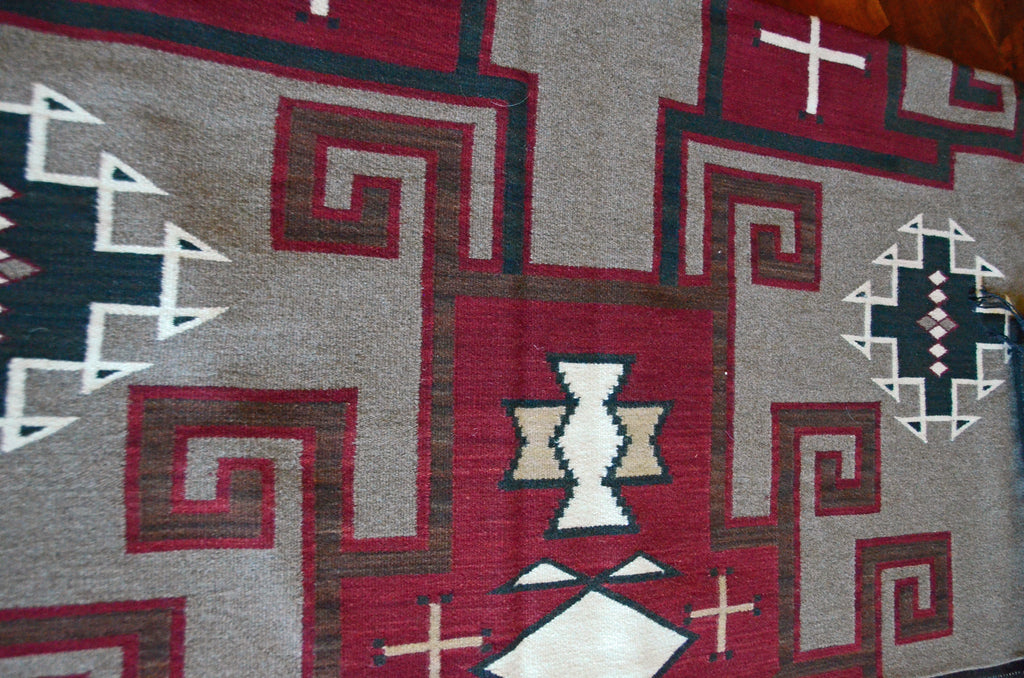 HOLD Crystal Old Style Design Navajo Weaving : Helen Kaye : Churro 526 - Getzwiller's Nizhoni Ranch Gallery