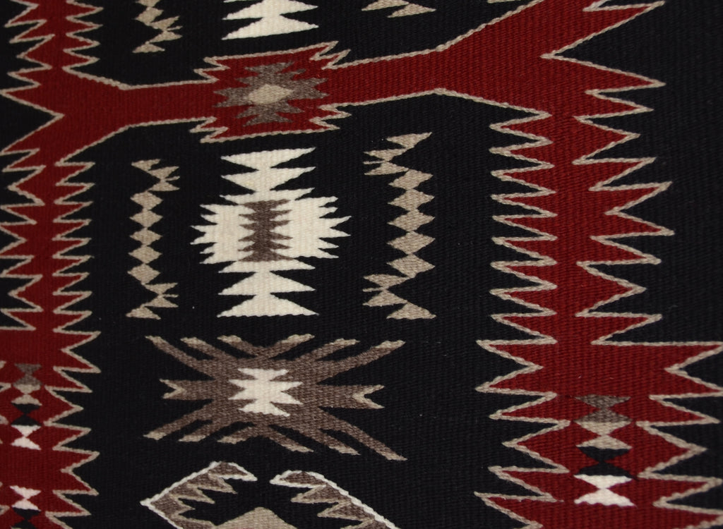 Midnight Storm Pattern Navajo Weaving : Gabrielle Chester : 3313 - Getzwiller's Nizhoni Ranch Gallery