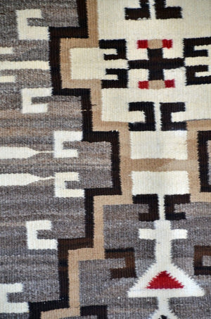 "Crystal / Storm Pattern / Pictorial Navajo Weaving : Historic : GHT 2241 : 44"" x 66"" - Getzwiller's Nizhoni Ranch Gallery"