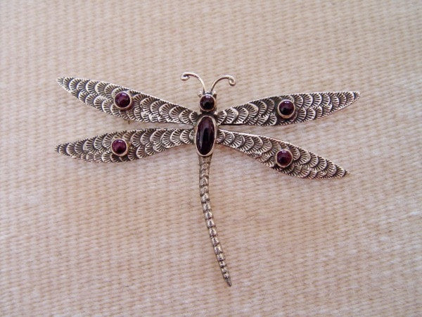 Jewelry : Navajo Dragonfly Pin : Lee Charley : NAJ-2P - Getzwiller's Nizhoni Ranch Gallery