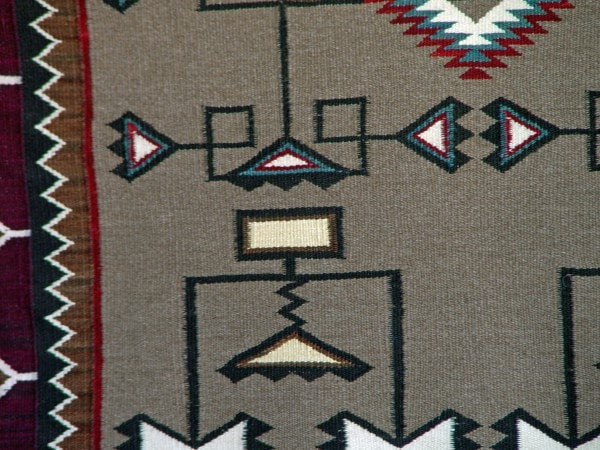 SOLD Teec Nos Pos Pictorial Weaving : Emily Malone : Churro 738 - Getzwiller's Nizhoni Ranch Gallery