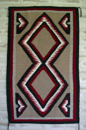 Navajo Double Saddle Blanket - Western Reservation : Rose Tsinnijinnie : Churro 1445 - Getzwiller's Nizhoni Ranch Gallery