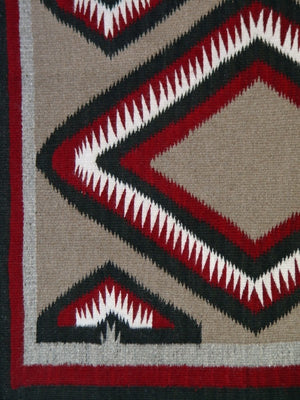 Navajo Double Saddle Blanket - Western Reservation : Rose Tsinnijinnie : Churro 1445 : 37″ x 60″ - Getzwiller's Nizhoni Ranch Gallery