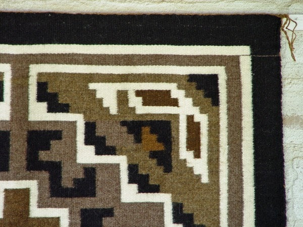 Two Grey Hills Navajo Weaving : Mark Nathaniel : 3189 - Getzwiller's Nizhoni Ranch Gallery