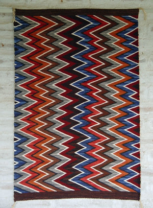 Germantown Style Navajo Eye Dazzler : Frances Begay : Churro 1211 - Getzwiller's Nizhoni Ranch Gallery