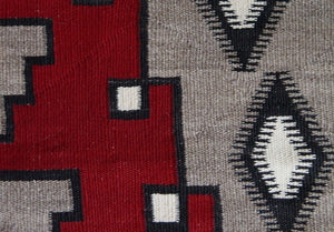 SOLD -  Ganado - Klagetoh Large Navajo Weaving : Historic : GHT 2200 : 59″ x 96″ - Getzwiller's Nizhoni Ranch Gallery