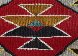 Red Mesa Navajo Weaving : Historic : GHT 2198 : 56″ x 69″ - Getzwiller's Nizhoni Ranch Gallery