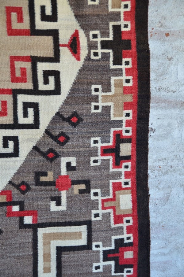Crystal / Storm Pattern Navajo Weaving : Historic : GHT 2208 - Getzwiller's Nizhoni Ranch Gallery