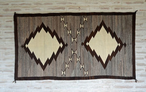"Transitional Navajo Weaving : Historic : GHT 2209 : 45"" x 85"" - Getzwiller's Nizhoni Ranch Gallery"