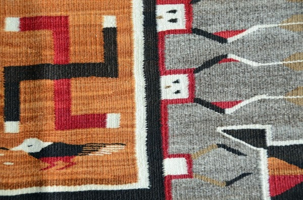 Storm Pattern / Sandpainting Yei Pictorial Navajo Weaving : Historic : GHT 2212 - Getzwiller's Nizhoni Ranch Gallery