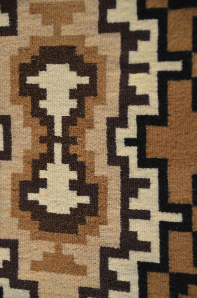 Two Grey Hills Navajo Tapestry woven by Daisy Taugelchee