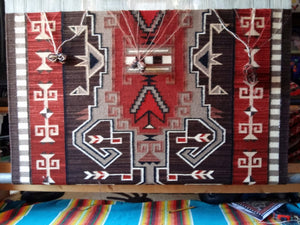 Navajo Weaving on the loom