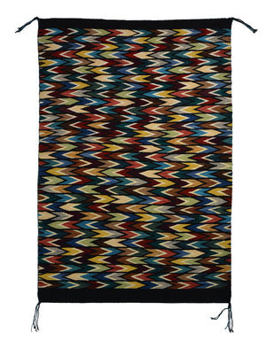 "Eye Dazzler : Native American Rug : Frances Begay : Churro 1626 : 39"" x 27"" - Getzwiller's Nizhoni Ranch Gallery"