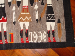 Yei Foxtail Navajo Weaving : Historic : GHT 2168 - Getzwiller's Nizhoni Ranch Gallery