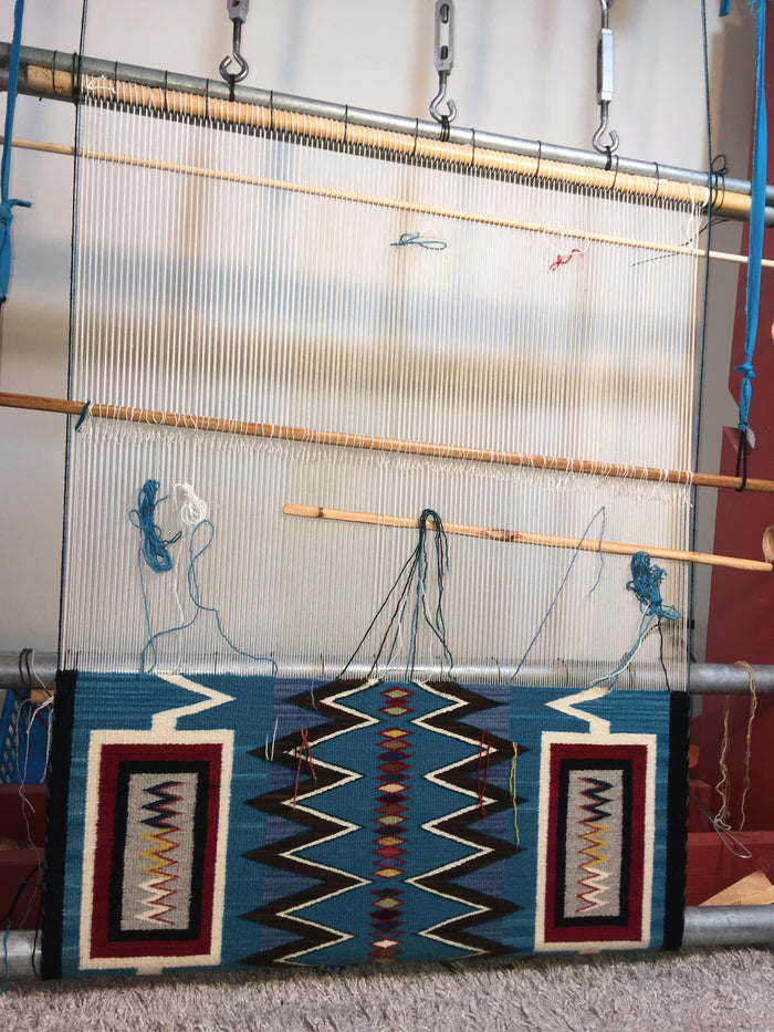 Storm Pattern Navajo Rug: Frances Begay : Looming Attractions