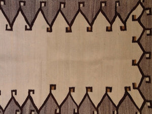 Saddle Blanket - Double Navajo Weaving : Historic : GHT 1983 : 32″ x 54″ - Getzwiller's Nizhoni Ranch Gallery