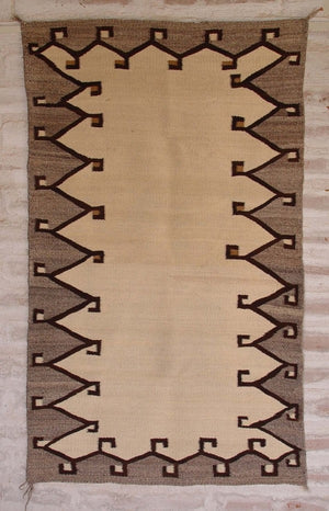 Saddle Blanket - Double Navajo Weaving : Historic : GHT 1983 - Getzwiller's Nizhoni Ranch Gallery