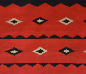 "Germantown Woman's Manta Navajo Weaving : Historic : GHT 1988 :  54"" x 41″ - Getzwiller's Nizhoni Ranch Gallery"