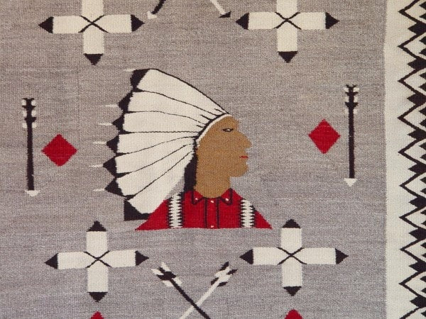 Pictorial - Pow Wow Navajo Weaving : Historic : GHT 2050 - Getzwiller's Nizhoni Ranch Gallery