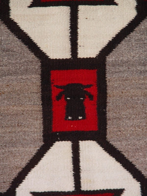 Storm Pattern Pictorial Single Saddle Blanket : Historic : GHT 2065 : 27″ x 32″ - Getzwiller's Nizhoni Ranch Gallery