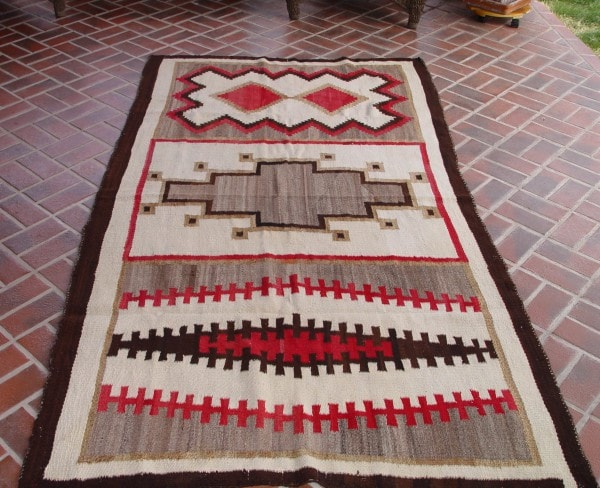 Transitional Navajo Weaving : Historic : GHT 2078 - Getzwiller's Nizhoni Ranch Gallery