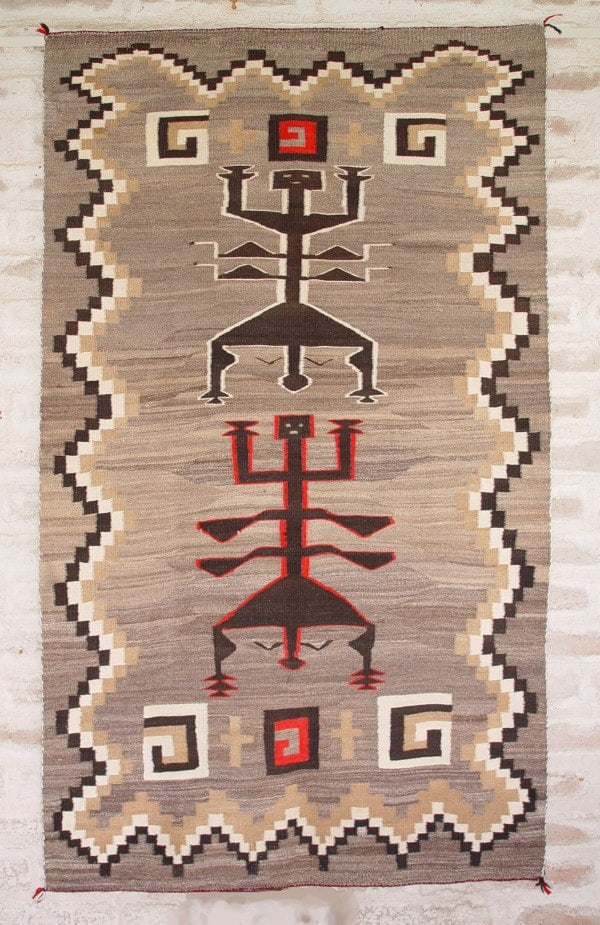Dragon Fly Yei Navajo Rug