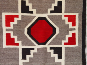Crystal / Storm Pattern American Indian Rug : Antique : GHT 2087 : 36.5″ x 61″ - Getzwiller's Nizhoni Ranch Gallery