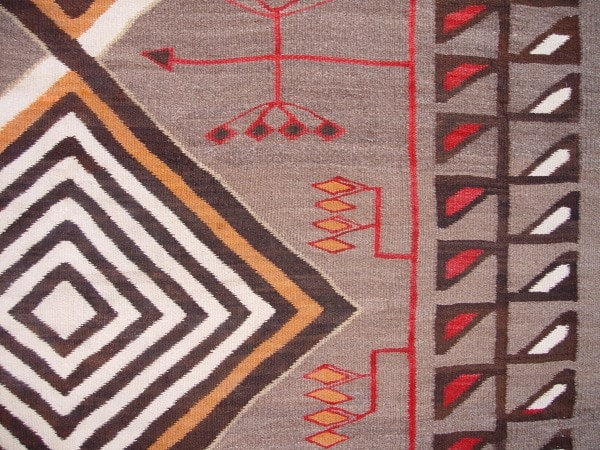 Crystal Pictorial Navajo Weaving : Historic : GHT 2124 - Getzwiller's Nizhoni Ranch Gallery