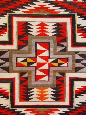 Transitional Navajo Rug : Antique : GHT 2150 : 61″ x 89″ - Getzwiller's Nizhoni Ranch Gallery