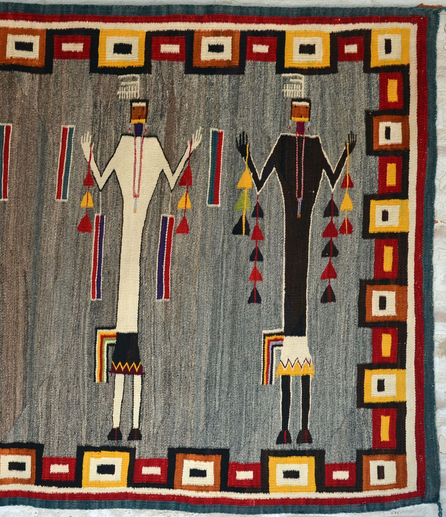 Yei - Rainbow Bars and Transitional Border : Historic : GHT 2222 - Getzwiller's Nizhoni Ranch Gallery