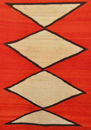"Hubbell Transitional Navajo Rug : Antique Native American rugs : GHT 2235: 92"" X 74"" - Getzwiller's Nizhoni Ranch Gallery"