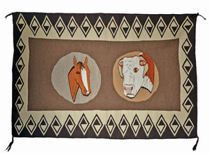 Native American Rugs : Vintage Ranch Pictorial : GHT 2315 - Getzwiller's Nizhoni Ranch Gallery