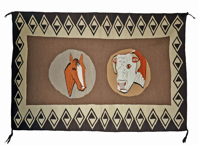 "Native American Rugs : Vintage Ranch Pictorial : GHT 2315 : 38"" x 57"""